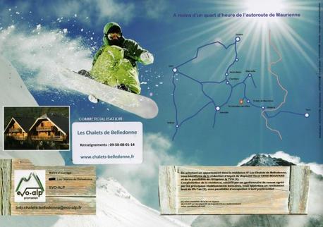 73130 SAINT-COLOMBAN DES VILLARDS 1100m - 2915m STATION-VILLAGE