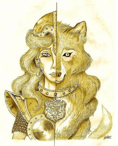 Mi-humaine mi-loup