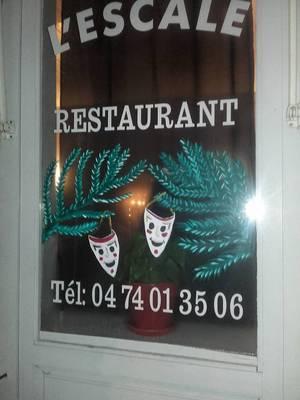 déco vitrines by Tatatron !! pizzéria l'escale !!