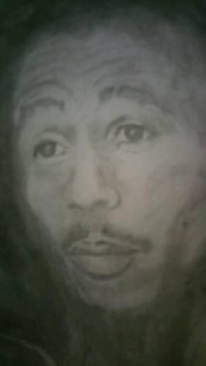 Bob Marley création by Linda Tatatron déssiné avec de la cendre et des allumettes !!