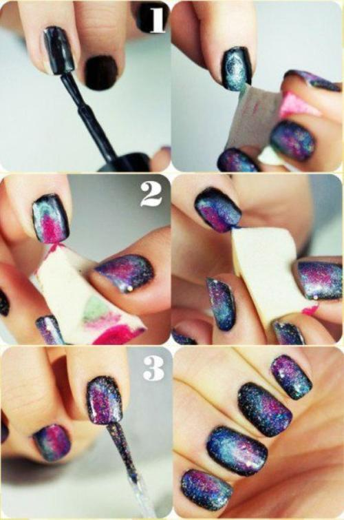 Nails Galaxy Tutorial .