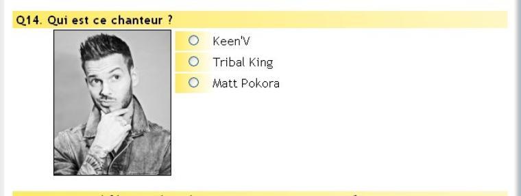 Tribal King et Quizz de Stars (Matt Pokora)