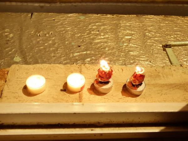 Illumination dans un village avec des elfs