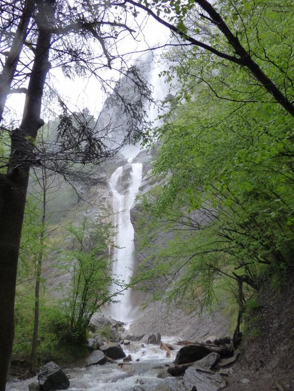 Cascade d'Arpenaz à Sallanches, mai 2017