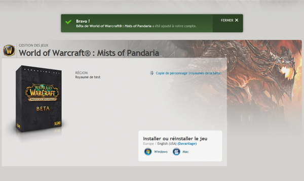 WoW Mist Of Pandaria Beta