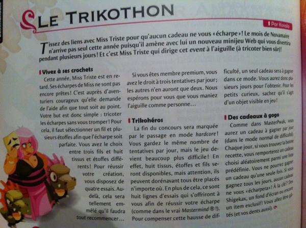 Event Novembre sur Dofus: le Trikothon