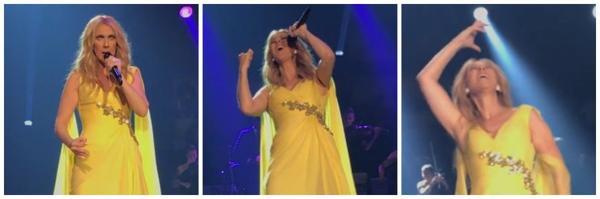 Céline ... hier soir le 17/05/17 Capture de la vidéo de Joe Lanteri