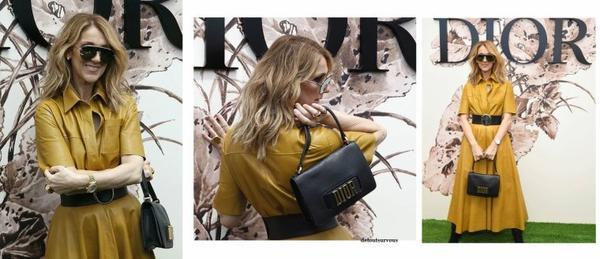 Jour de repos aujourd hui le 03/07/2017 pour Céline alors elle en profite pour se faire un défilé chez Dior