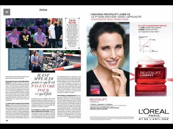 Céline dans les magazines
