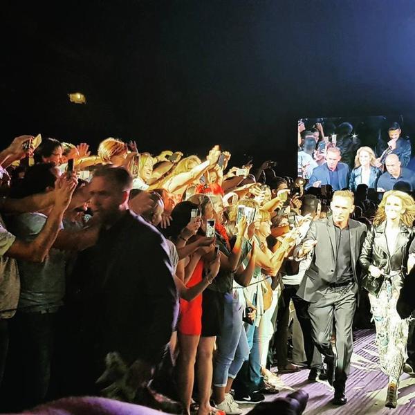 Céline hier soir à Marseille ... Le 18/07/17