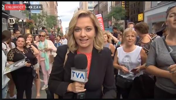 Céline se fait désiré ! TVA nouvelles et Red heads est en direct. Le 23/08/17
