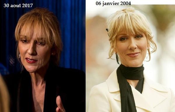 13 ans séparent ces 2 photos de Céline ...