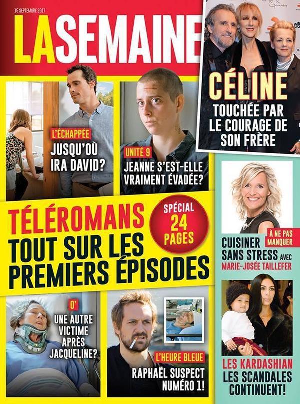 Céline dans le magazine La semaine du 15/09