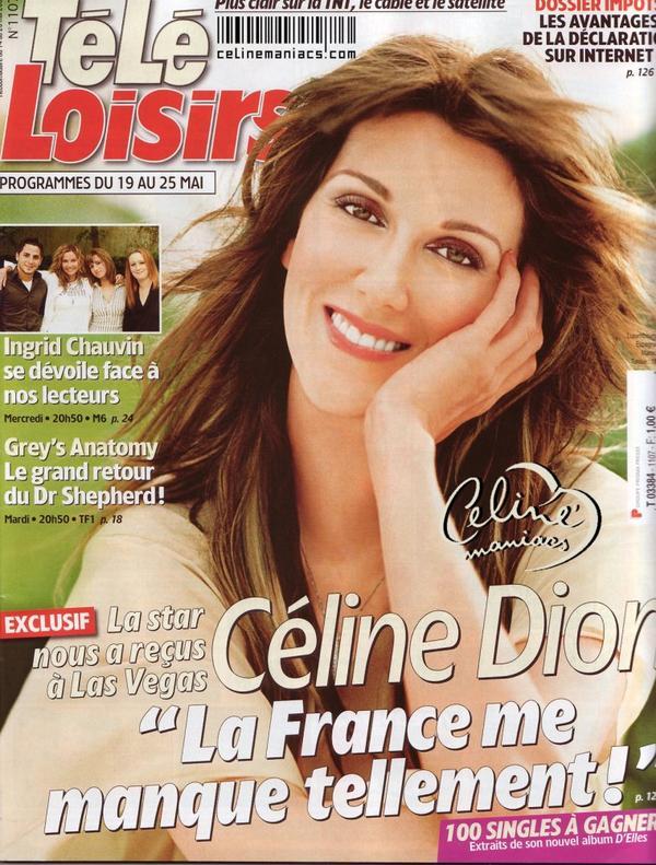 Mai 2007 Céline dion dans tele loisir