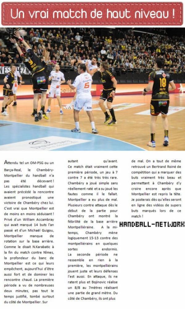Chambéry 31-34 Montpellier