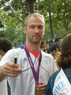 Retour de la délégation française olympique à Paris (13.08.2012)