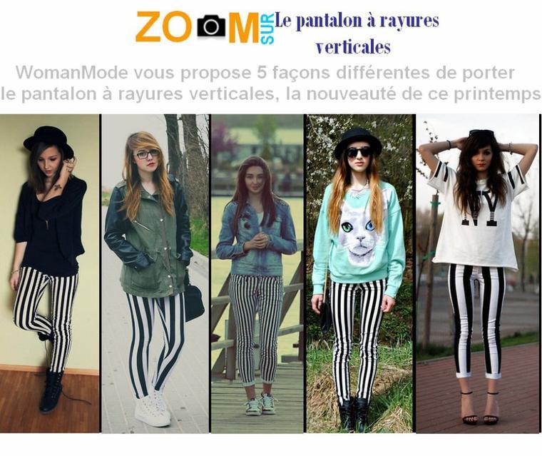 Article n°17: Zoom Sur Le Pantalon à rayures verticales
