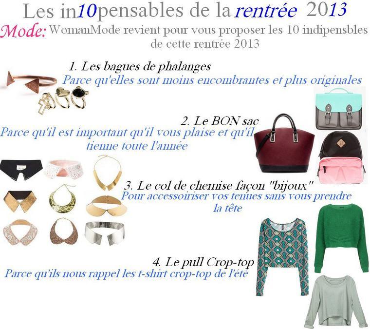 Article n°20: Les In10pensables de la rentrée 2013 !