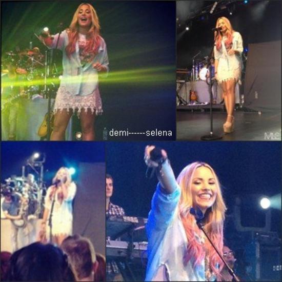 Demi Lovato: soundcheck à Vienna, VG