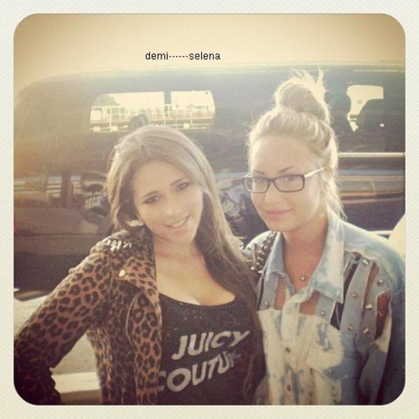 Demi Lovato: avec une fan aujourd'hui