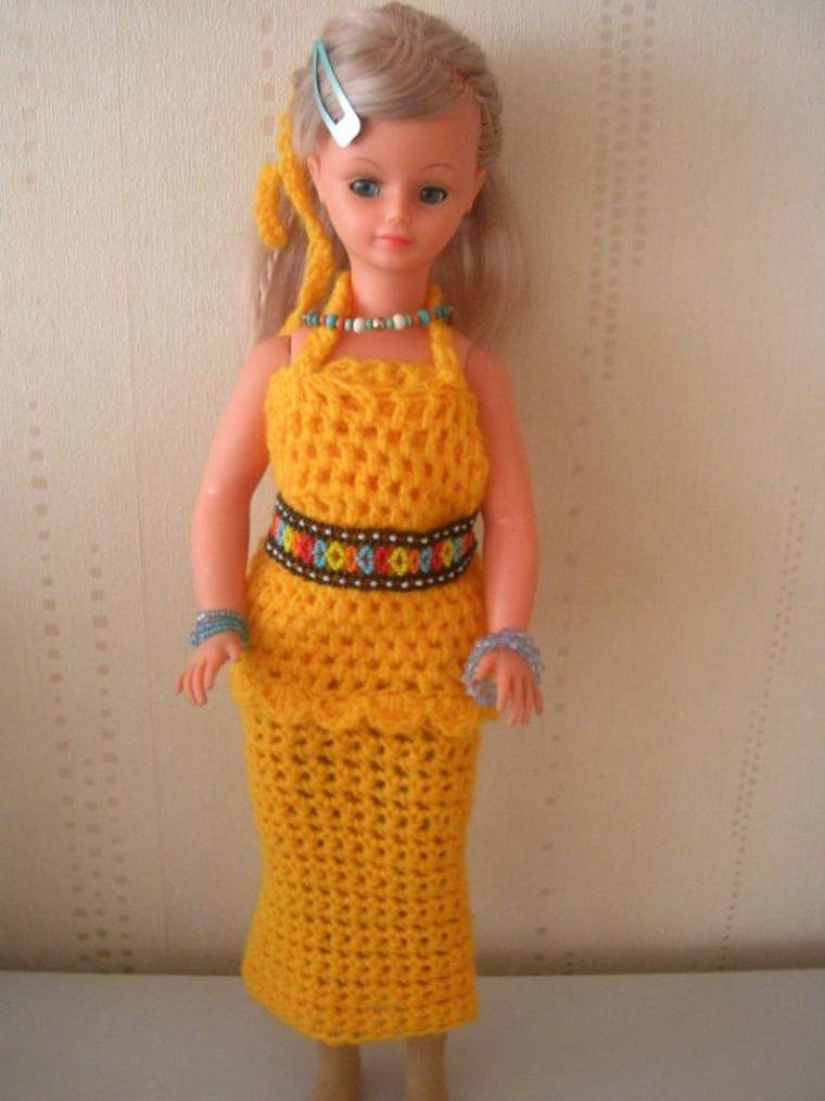 Cathie en ensemble crochet jaune