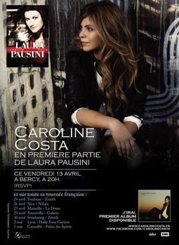 Caroline en première partie de Laura Pausini
