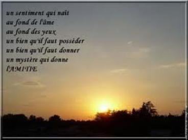 ♥  L'Amitié ♥