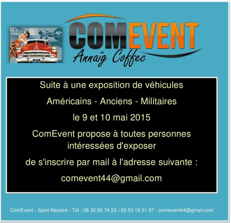 Exposition de véhicules le 9 et 10 mai 2015