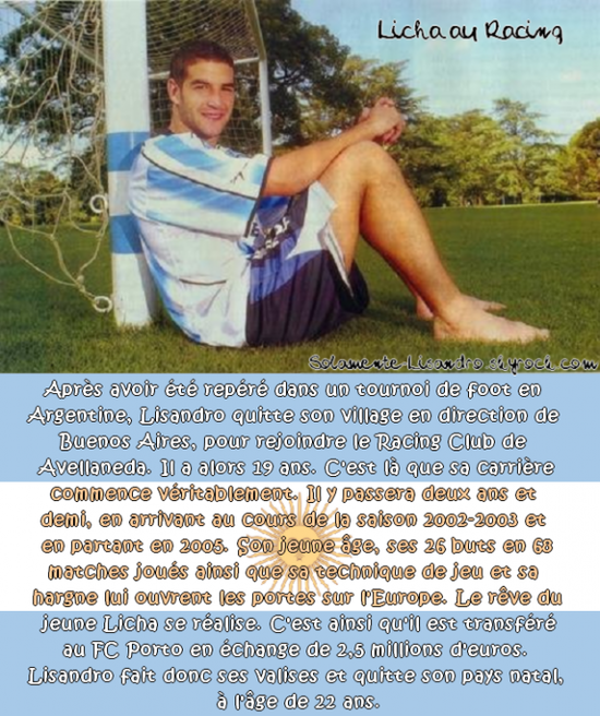 #06.  Lisandro au Racing club
