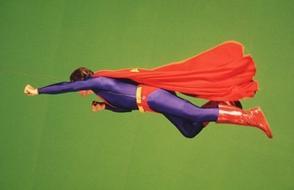 La pression de jouer Superman