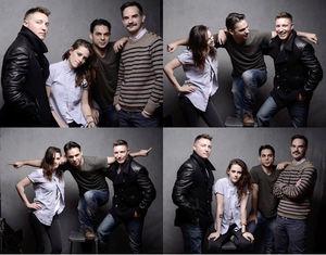 #NEWS Kristen Stewart shoot officiel avec le cast de Camp X-Ray au Sundance Festival hier