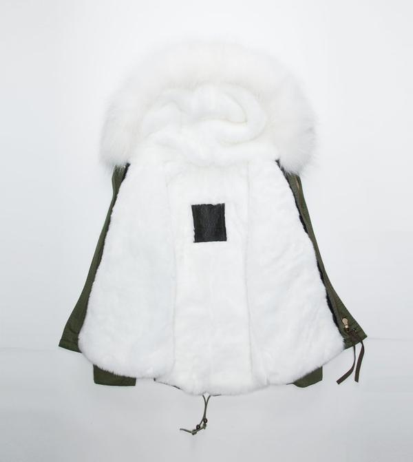 mr mrs furs 2015 high quality DHL free shipping furs coat for women army green pink fur short style with hooded jacket M001