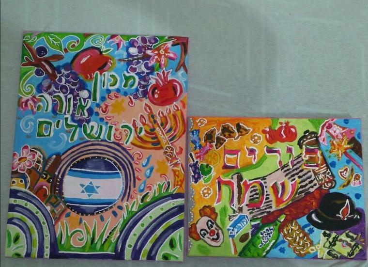 deux de mes tableaux en peinture