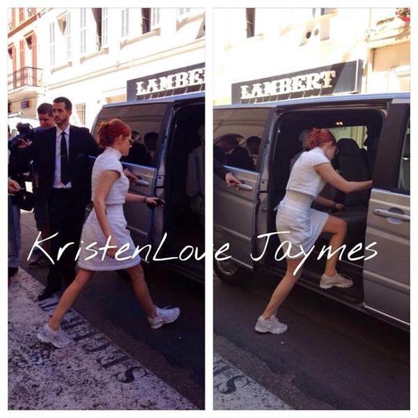 Sils Maria : Photo de Kristen durant la press Junket du film le 24/05 à Cannes
