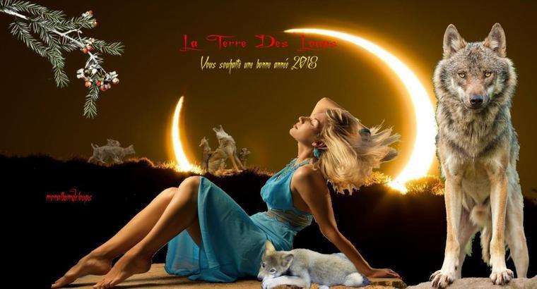 """2 janvier 2018 : La Pleine Lune des Loups  Cette Pleine Lune se connecte à Mars, Jupiter et Neptune dans un """"grand trigone d'eau"""", inspirant de profonds sentiments d'Amour et de Tendresse"""