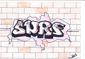 surf et le prenon sandra  en  graffiti