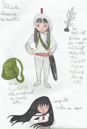 Personnages d'Ebène et la chasseuse de monstres