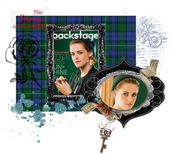 """Kristen en couverture du magazine """"Backstage"""" :"""