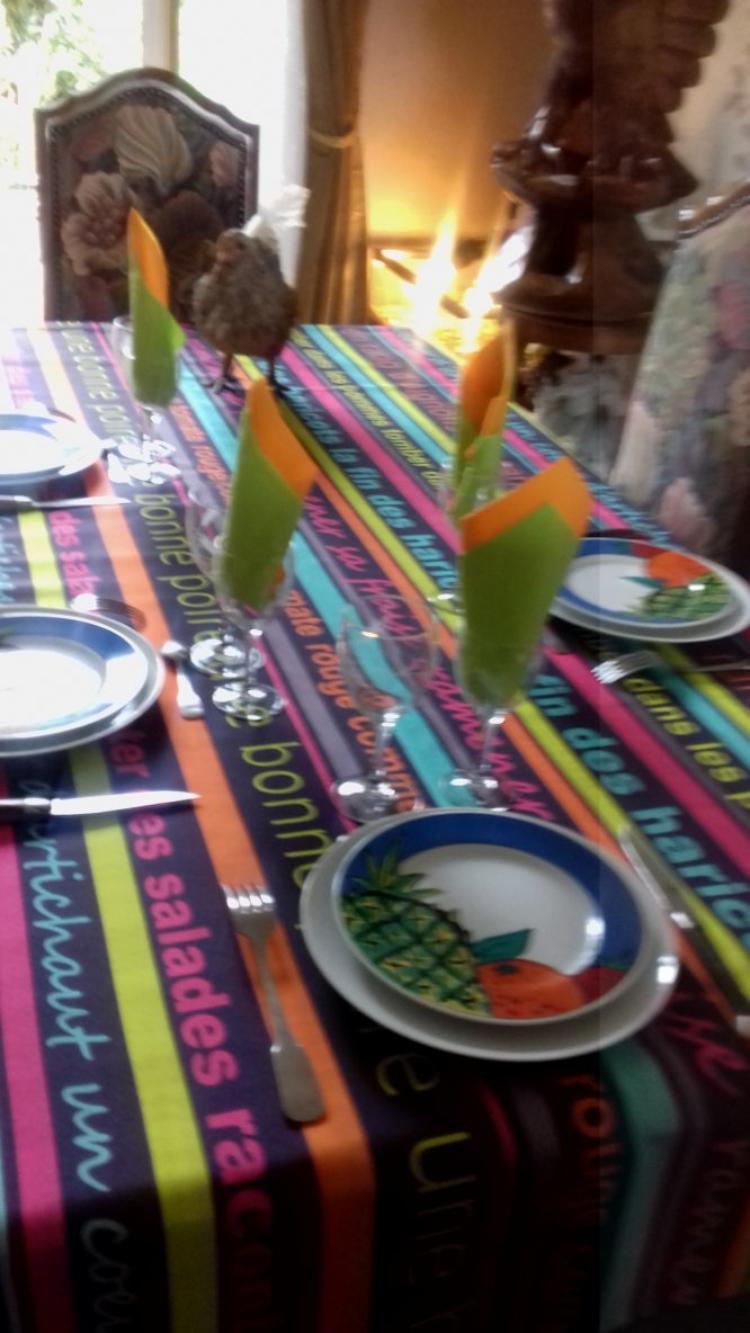 le petit repas ce midi avec les enfants stevens et maureen