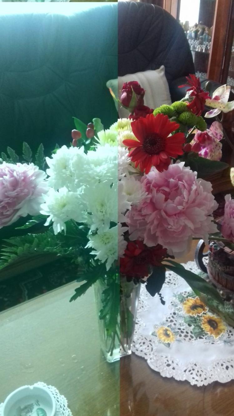 bouquet offert par mon mari pour la fete des meres