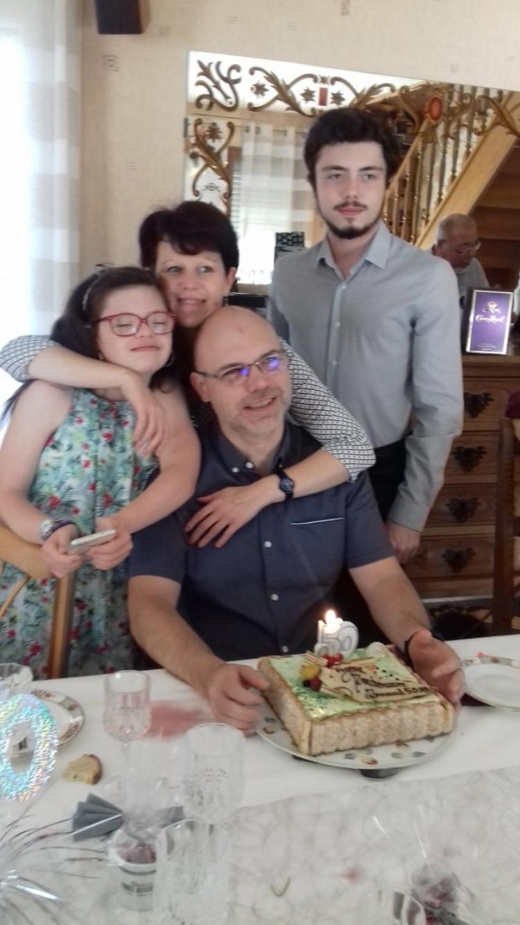 repas d anniversaire pour les 50 ans de  notre  gendre arnaud le mari de notre fille olivia