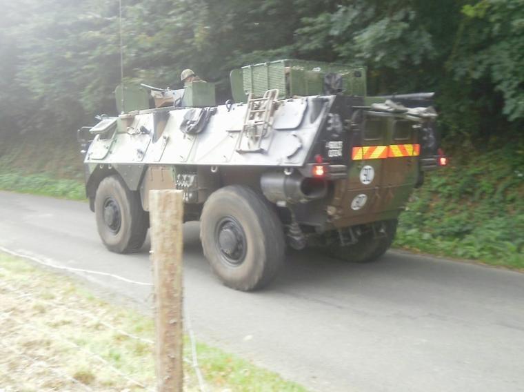 char de militaire pres de chez moi aussi