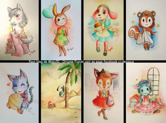 Une dessinatrice super douée qui dessine du Animal Crossing