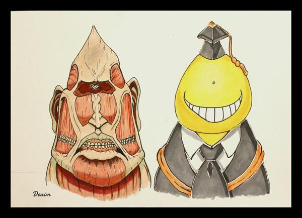 """Ordo-Illuminatee"" :    Titan Colossus and Koro-Sensei"