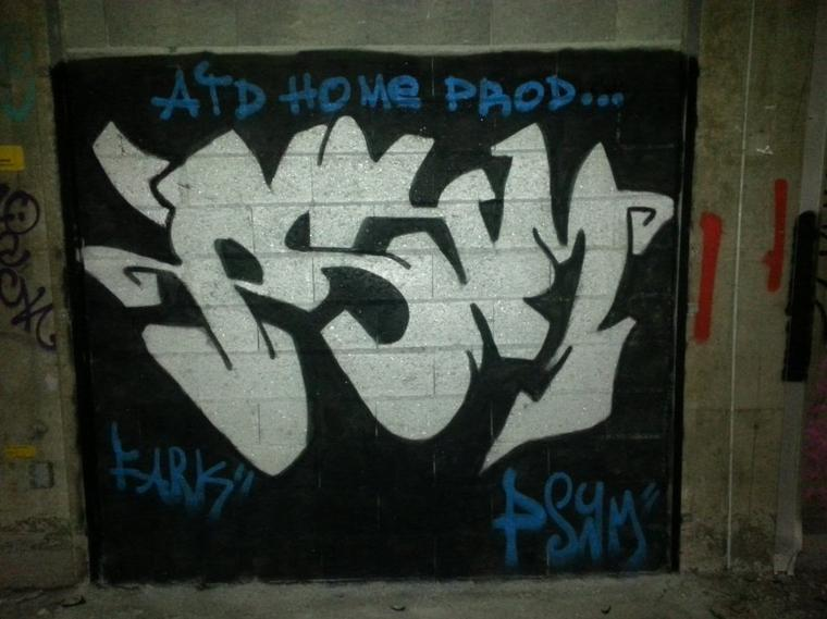 graffiti pour une association ( ATD HOME PROD )
