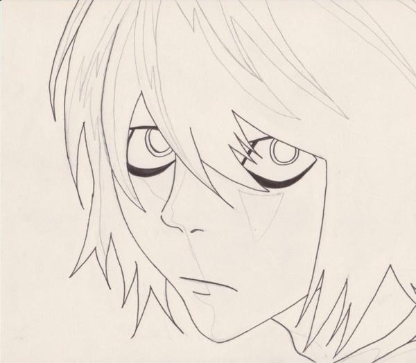 Dessin Death Note : L  (èwè)