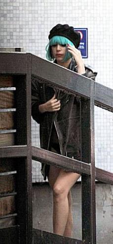 Lady GaGa arrivant dans les studios d''ITV à Londres.
