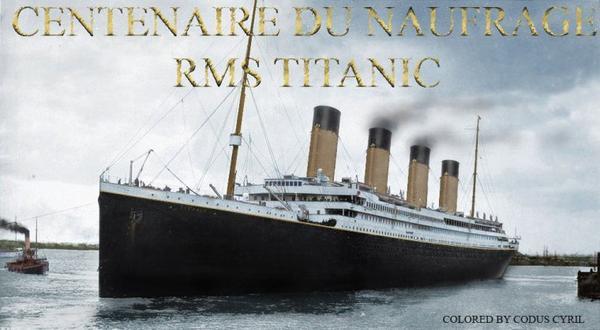Le RMS Titanic à southampton mise en couleur par moi.