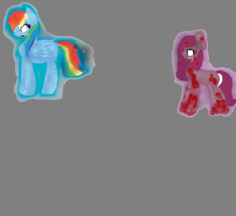 rainbow dash and pinkamena