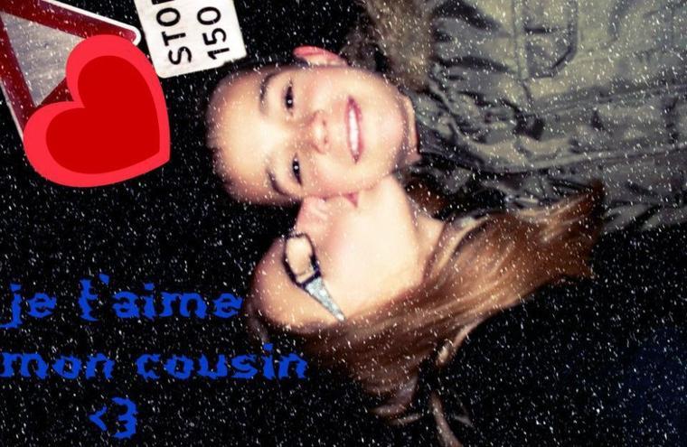 moi et mon cousin que j'aime